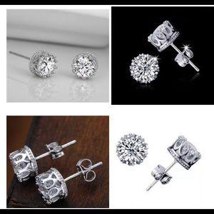 Jewelry - CZ 6mm round stud earrings